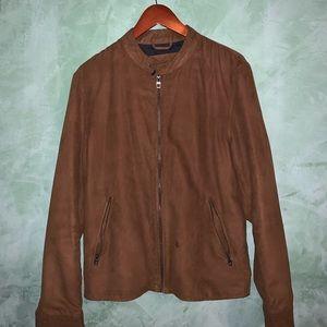 Zara Men's suede bomber jacket size medium